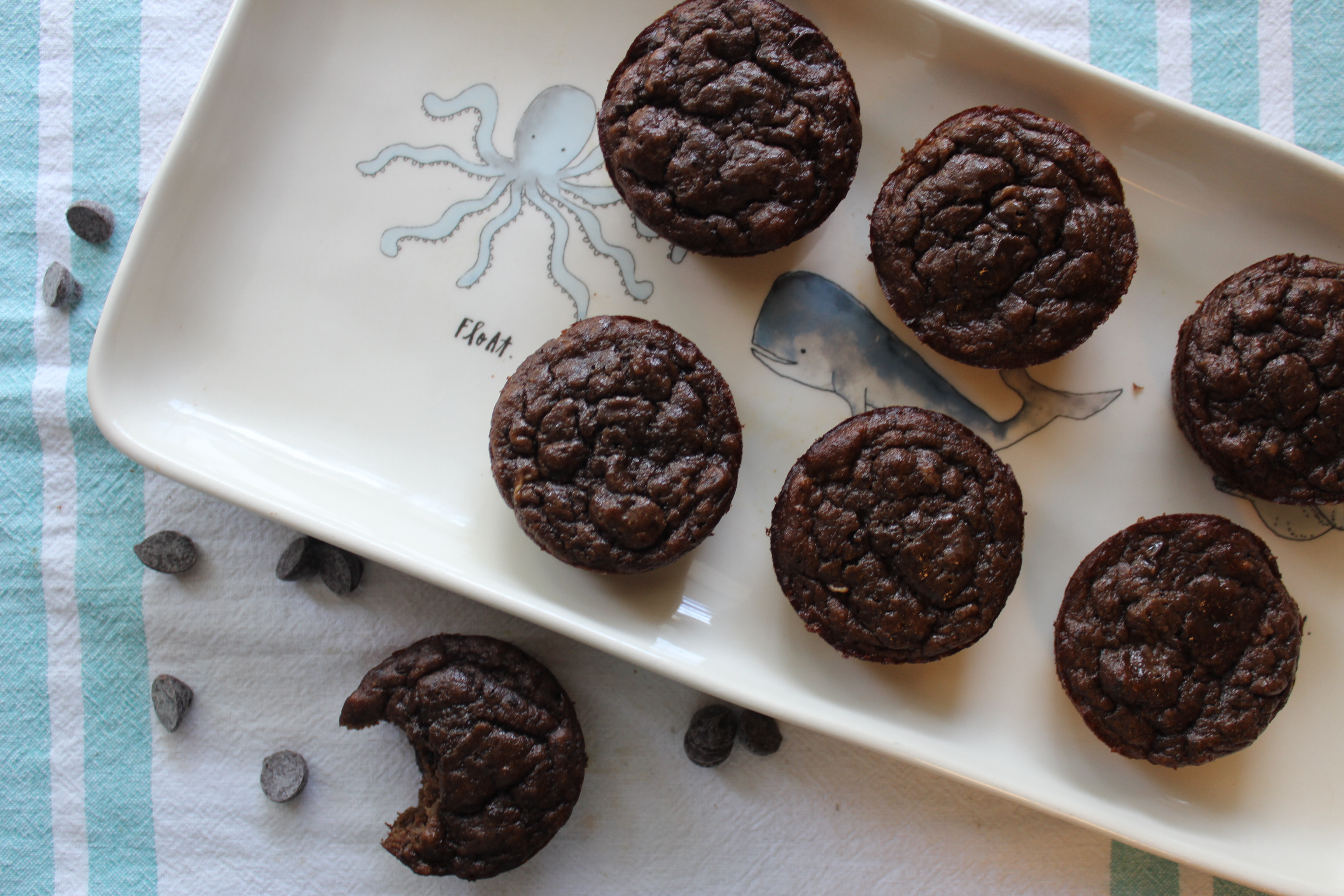 Paleo Double Chocolate Banana Muffins -
